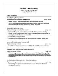 Chiropractic Resume 18 Free Massage Therapist Resume Templates