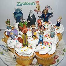 Nfl Decorations Amazon Com Disney Zootopia Deluxe Mini Cake Toppers Cupcake