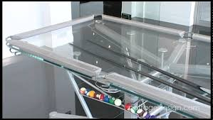 g 1 glass top pool table youtube