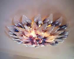 Lotus Chandelier Lotus Glass Chandelier Artisan Crafted Lighting