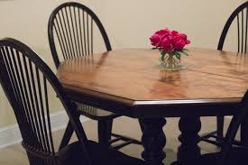 Refinishing A Kitchen Table by What I Learned From Refinishing Our Kitchen Table Myself Twice