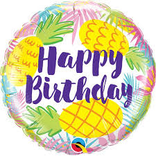 happy birthday balloon pineapples happy birthday balloon blossoms balloons