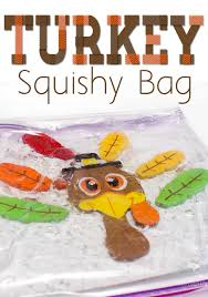 turkey bags make a turkey squishy bag sensory activity