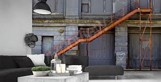 Industrial Stairs Design Murals Stairs U2022 To Size Of Wall Myloview Com
