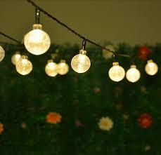 solar globe lights garden solar led string lights 5m 20leds crystal ball globe fairy lights