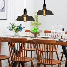 Ceiling Lights Dining Room Industrial Retro Vintage Pipe Glass Edison Bulb Pendent Ceiling