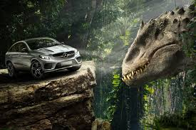 jurassic park car jurassic world u0027 gives 2016 mercedes benz gle coupe a dino size