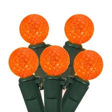 set of 50 orange led g12 berry fashion glow christmas lights