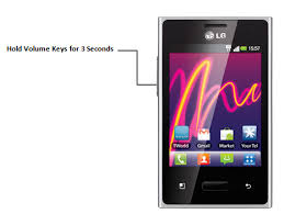 how to take a screenshot on a android how to take screenshot on lg optimus l3 e400 android phone