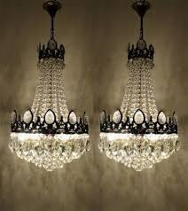 Basket Chandeliers Vintage Crystal Chandelier Visualizeus