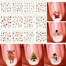 12 sheet christmas 3d nail art stickers snowflakes u0026 cute snowmen