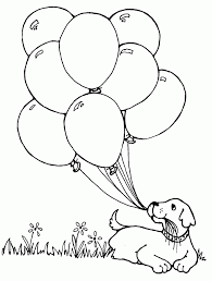 hello kitty with heart balloons coloring page at ballon coloring
