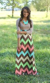 the pink lily boutique color me fabulous chevron maxi 44 00