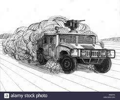 military hummer drawing line military trucks stock photos u0026 line military trucks stock