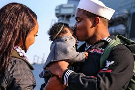 cheering families welcome kidd shoup after 6 months at sea