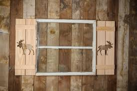 exterior moose shutter made of premium pine perfect for your