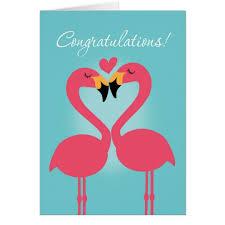 wedding congratulations flamingo wedding congratulations card zazzle