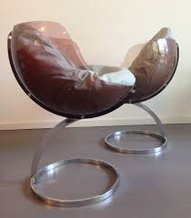 pair of sphere arm chairs by boris tabacoff for mobilier modulaire
