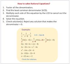 solve rational equations