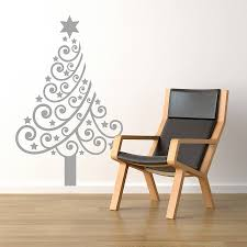christmas tree wall decals australia wall murals you ll love christmas tree wall sticker by spin collective