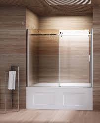 Shower With Bathtub Bathroom Sliding Door For Families With Kids And Elderly