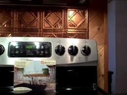 copper backsplash in kitchen installation youtube