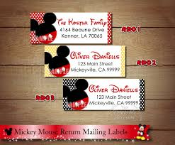 mickey mouse return address labels minnie mouse return