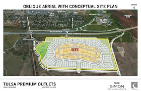construction site plan simon submits plans for jenks outlet mall
