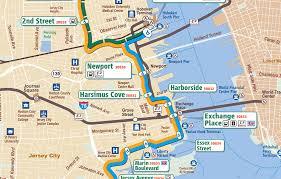 hudson bergen light rail map shuttle service between harborside newport light rail