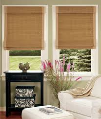 Tab Top Country Curtains Roman Shades Bamboo Insulated Roman Shade Traditional Window