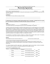free virginia roommate agreement room rental form pdf eforms