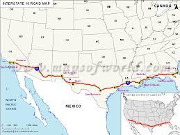 california map in us interstate 10 i 10 map santa california to