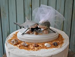 shark shark bull shark shark wedding wedding cake topper shark