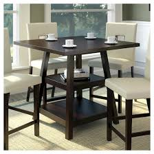 Bistro  Counter Height Dining Table With Shelves Wood - Counter height kitchen table with storage