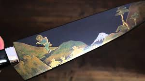 japanese handmade kitchen knives takeshi saji mt fuji makie art gyuto 240mm japanese chef knife