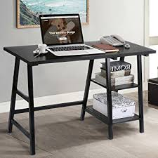 Vintage Home Office Furniture Tangkula Computer Writing Study Trestle Desk Modern
