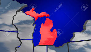 Map Of Red And Blue States by Michigan Mi Map Clouds Usa United States America Weather Forecast