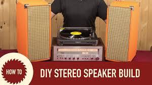 Homemade Stereo Cabinet Diy Stereo Speaker Build Youtube