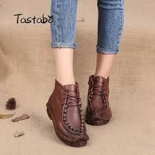 womens boots size 11 leather tastabo handmade martin boots leather shoes folk style