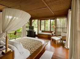 DecorBamboo Roofing Wooden Floor Eco Friendly Bedroom Bedroom - Bali bedroom design