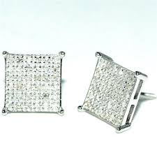 big diamond earrings square diamond earrings large diamond stud earrings square princess