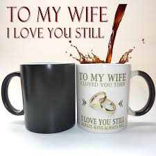 Best Coffee Mugs Ever by Aliexpress Com Buy To My Wife Husband Mug Magic Color Changing