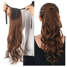 light brown hair piece amazon com haironline one piece tie up ponytail clip in hair