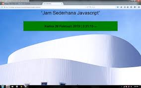 membuat web sederhana dengan javascript programming web membuat jam sederhana tekno web