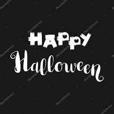 fright night halloween party hand drawn lettering phrase card