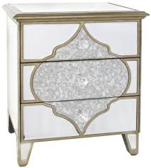 Mirrored Furniture Online Buy Milagro Mirrored Bedside Cabinet 3 Drawer Online Cfs Uk
