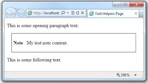 layout view helper creating and using a helper in an asp net web pages razor site