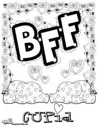 bff award coloring pages friend printable girls anime