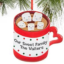 personalized ornaments chocolate marshmallows 5