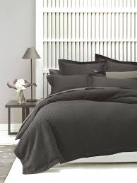 deluxe waffle quilt cover set charcoal queen quilt covers make